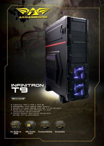 (CLEARANCE) Armaggeddon Infinitron T9 Gaming Tower Chassis Malaysia
