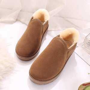 Hình thu nhỏ sản phẩm Noble Female Snow Boots Student Bread Shoes Flat Winter Warm Within Welvet Shoes