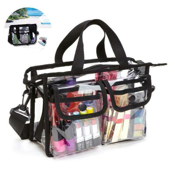 leegoal Clear Pvc Cosmetic Bags With Removable And Adjustable Shoulder Strap - intl Philippines