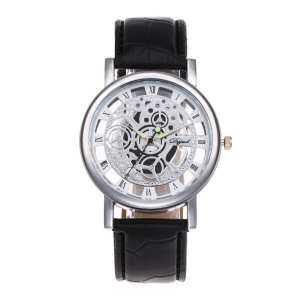 GoSport Cool Design Hollow Out Transparent Dial PU Leather Wrist Watch Gift New