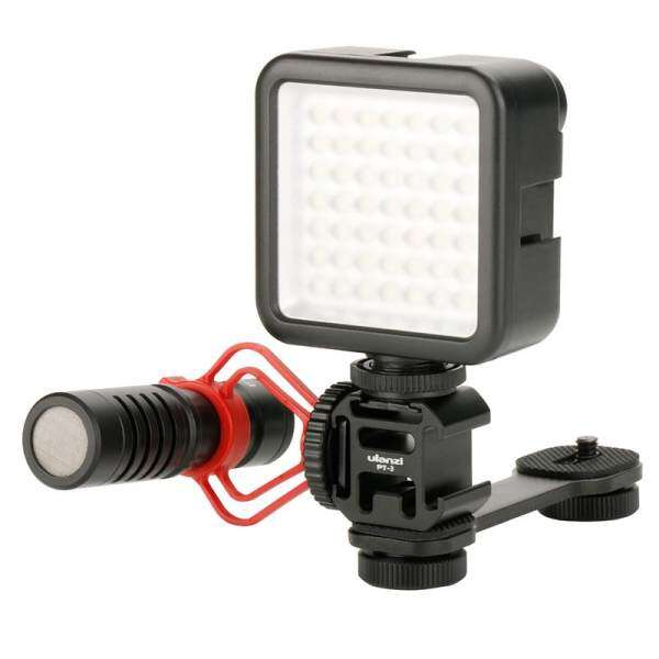 Ulanzi PT-3 Extention Bar Grip 3 Cold Shoe Mounts L Bracket for Zhiyun Smooth Q 4/DJI OSMO/Vimble 2 Gimbal LED Light Microphone Malaysia