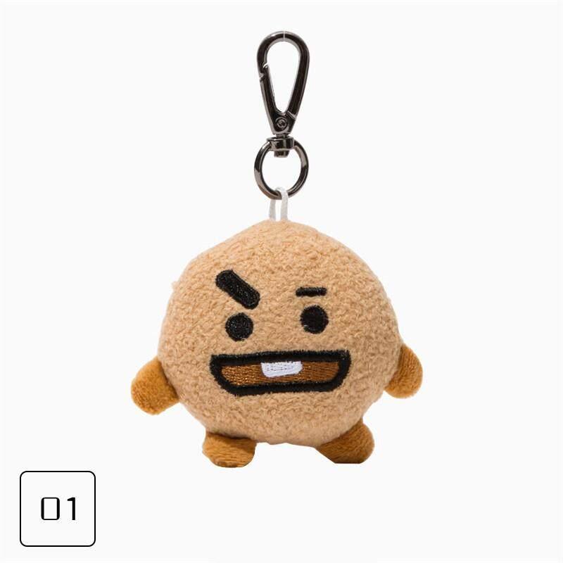 พวงกุญแจแฟนของขวัญ KPOP BTS BT21 ของเล่นตุ๊กตาพวงกุญแจตุ๊กตาของเล่นตกแต่งภายในบ้าน, JUNG KOOK JIMIN วี J-HOPE - นานาชาติ