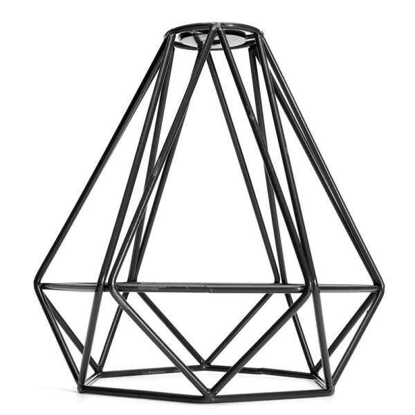 Lampshade Modern Lamp Cover Loft Industrial Edison Metal Wire Frame Ceiling Pendant Hanging Light Lamp Cage Fixture (Black) - intl