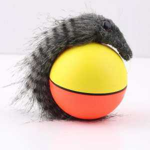 XIN Dog Cat Weasel Motorized Funny Rolling Ball Pet Appears Jump Moving Alive Toy