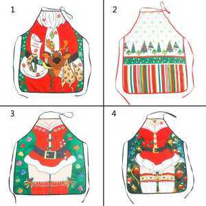 oppoing Personality Kitchen Apron Christmas Santa Anime Cartoon Beautiful Lady Cooking Apron Creative Character Series Christmas Gifts for Mom Women Girlfriend