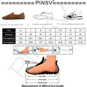 PINSV Shoes Classic Casual Business Leather Shoes Fashion Breathable And Flexible Fashion Leather Shoes Non-Slip Wear-Resistance Shoes