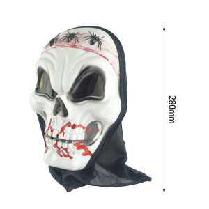 Hình thu nhỏ sản phẩm Halloween Scary Spider Skull Blooding Ghost Mask Cosplay Party Trick Prop