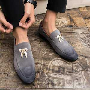 YOZO Men Dress Leather Shoes Slip On Fashion Male Formal Oxford Shoes Flats Pointed Toe Party Wedding Shoes For Men Formal Shoes Business Shoes
