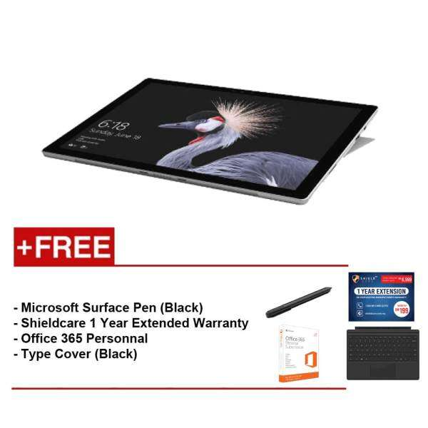 NEW Microsoft Surface Pro - Core I5 4G/128GB + Surface Pro Type Cover (Black) Free Microsoft Office 365 Personal + Shieldcare 1 Year Extended Warranty + Surface Pen (Black) Malaysia