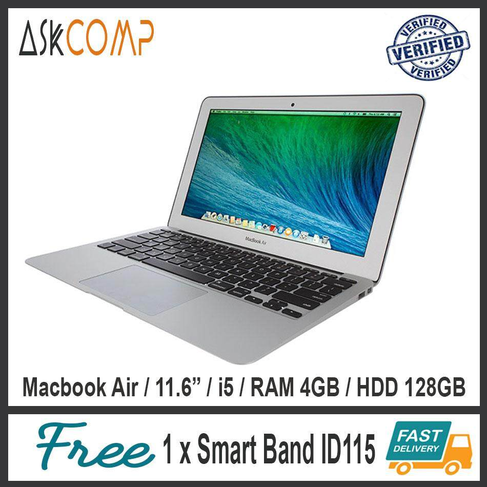 [Import] Macbook Air 11.6 / i5 / 1.4 GHz Turbo Boost Up To 2.7 GHz / Silver / Free Smart Band ID115 Malaysia