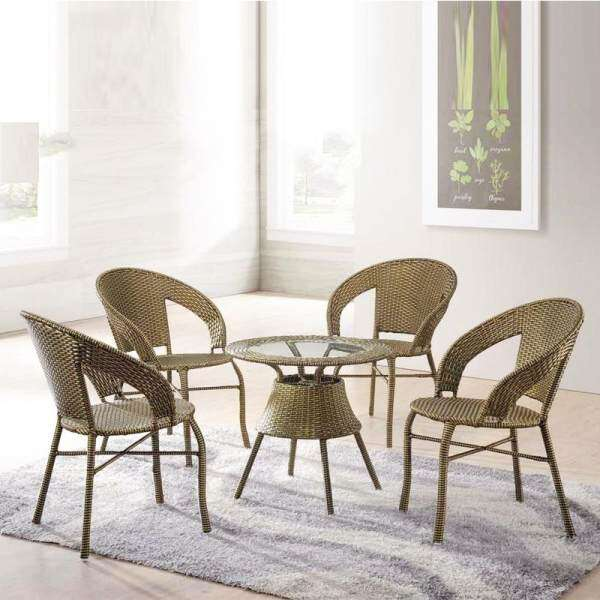 furniture direct florence 4 seater waterproof synthetic rattan
