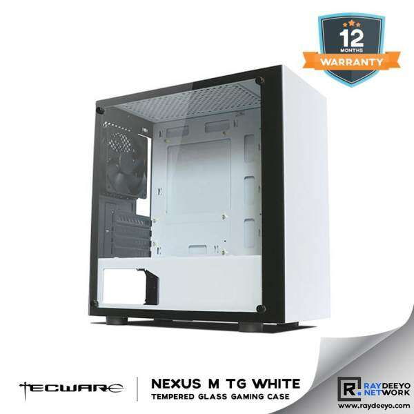 Tecware NEXUS M TG (WHITE) Tempered Glass Gaming Case Malaysia