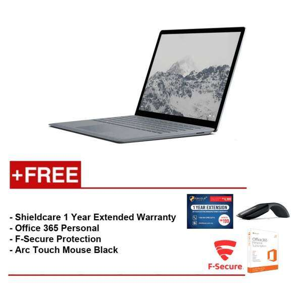 Surface Laptop Core i5/4GB RAM - 128GB + Shield Care 1Year Extended Warranty + F-Secure End Point Protection + Office 365 Personal + Arc Touch Mouse Malaysia