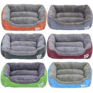 Hình ảnh Pet Bed Ultra Soft Waterproof Pet Bolster Bed Pet Cushion for Dogs & Cats (grey)L - intl