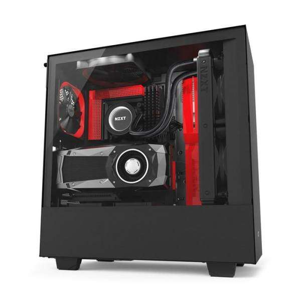 NZXT H500I Mid Tower ATX Case Black & Red Malaysia