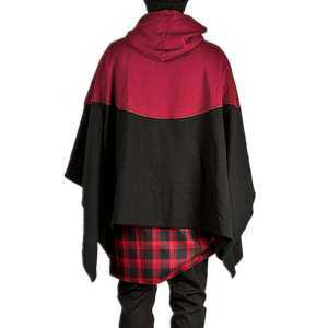 Hình thu nhỏ sản phẩm Fs Big Sale Men Fashion Simple Hooded Cloak Windproof Wizard Cloak Concise Matching Color Coat