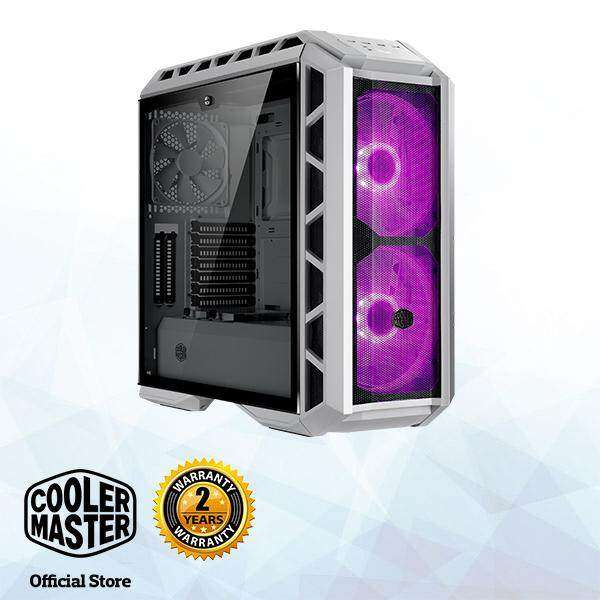 Cooler Master MasterCase H500P Mesh White E-ATX Gaming Case with Two 200mm RGB Fans Malaysia