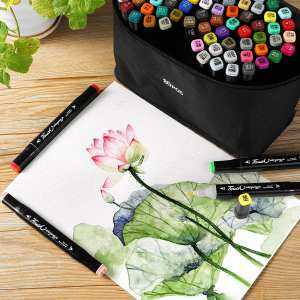 80 Colors Drawing TouchFive Markers Pen Dual Head Tips Graphic Art Set Gift Anime