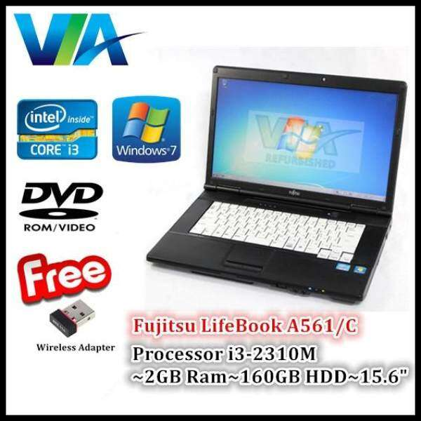 Refurbished Laptop Fujitsu A561 Core i3~2GB~160GB~Win7 Pro Malaysia