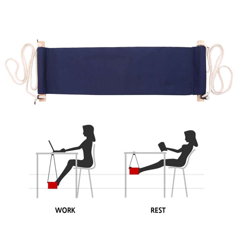 Ooplm Portable Adjustable Mini Office Foot Rest Desk Feet Hammock   Intl  Philippines