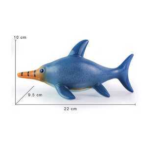 Hình ảnh Lifelike Shape Animal Dinosaur Model Toy Kids #Blue Swordfish Dragon - intl
