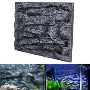 2PCS 3D Foam Rock Aquarium Background Fish Tank Reptile Reptile Marine 23''x18'' # Dragon Stone