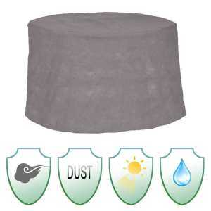 Hình thu nhỏ sản phẩm Waterproof Gray Round Patio Table Cover Garden Yard Outdoor Furniture Protection - intl