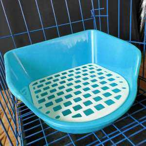 Hình thu nhỏ sản phẩm leegoal Pet Toilet, Pet Potty Tray Heightening Square Small Animals Potty Training Litter Corner Box Removable Potty Pad For Rabbit Bunny Hamster Cat Chinchilla