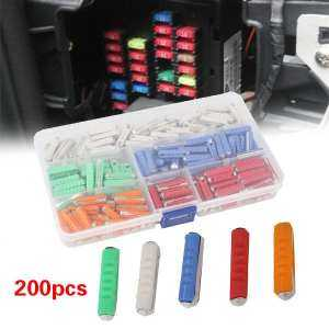 Aukey Store Blade Fuse Fuse Assortment Multicolor 200pcs Insert Type Car Car Accessories - intl