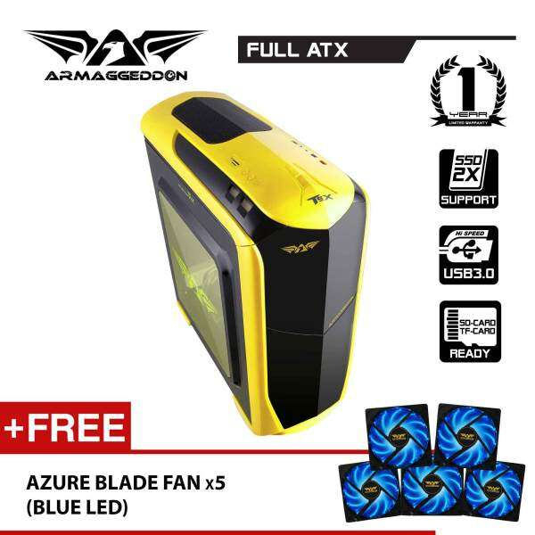 Zetatron T9X Full ATX Gaming PC Chassis Free Fan (x5) By Armaggeddon Malaysia