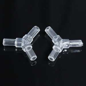 10PCS Water Aquarium Fish Tank Oxygen Air Pump High Quality Crystal Square Elbow Tee Pass Pipe Connecting Turn Joint - intl