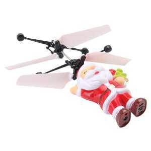 Hình ảnh Funny Santa Electric Infrared Sensor Flying Ball Helicopter LED Light Xmas Toy - intl