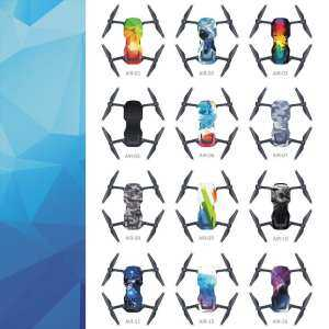 Hình thu nhỏ DJI Waterproof PVC Stickers Decal Skin Cover Wrap Guard Sticker For DJI Mavic Air multi-color mixed