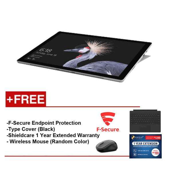 Microsoft Surface Pro I5/4G 128GB + Type Cover Black + Shield Care 1 Year Extended Warranty + F-Secure End Point Protection + Wireless Mouse(Random Color) Malaysia