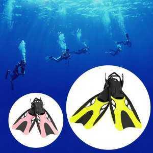 Swimming Fins Adult Snorkeling Foot Flipper KIDS Diving Fins Beginner Swimming Equipment Portable Short Frog Shoes - intl