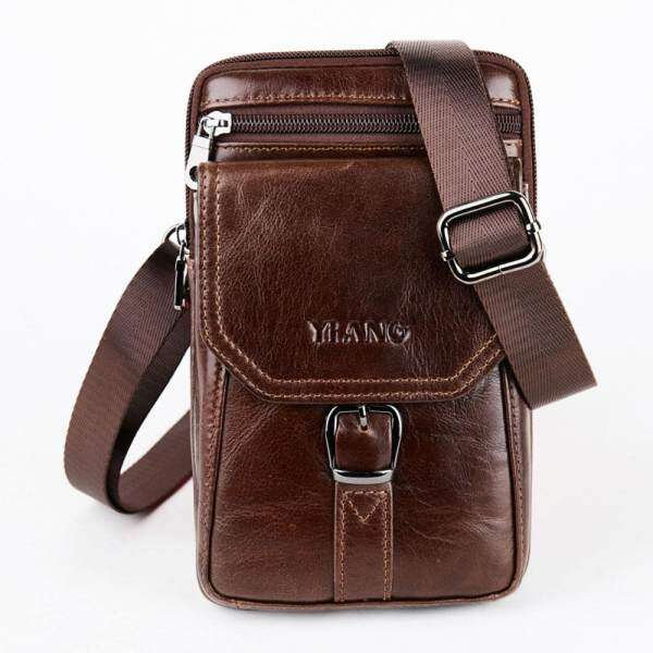 e2ca0414af69c niceEshop Vertical Soft Genuine Leather Phone Holster Pouch Carrying Case  Large Capacity Waist Bag With Belt