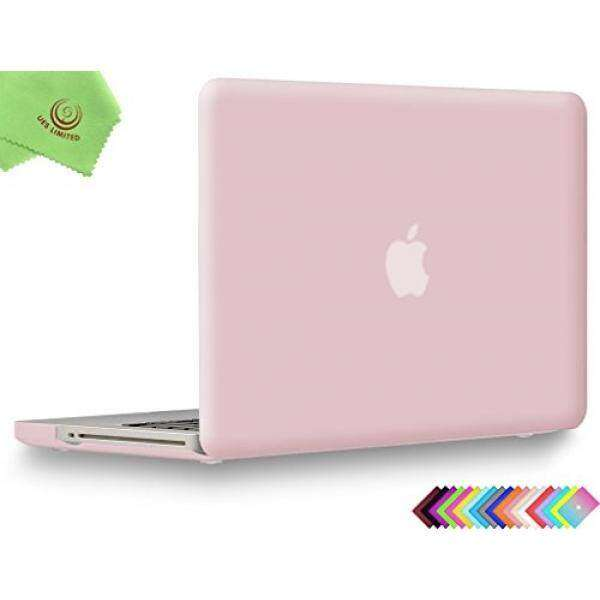 UESWILL Smooth Soft-Touch Matte Hard Shell Case Cover for MacBook Pro 13 with CD-ROM (Non-Retina) (Model A1278) + Microfibre Cleaning Cloth, Rose Quartz Malaysia