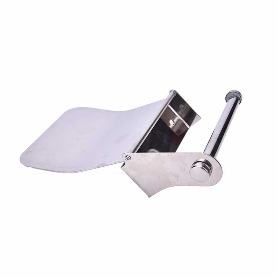 Bathroom Wall Mounted Stainless Steel Chrome Toilet Paper Holder Roll Tissue Box - intl