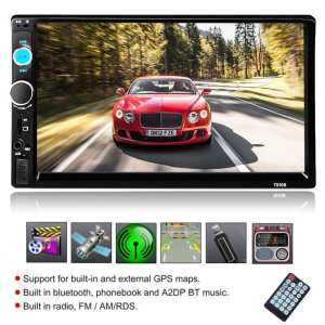 Car MP5 Audio Video Player Smart with Rear Camera Touch Screen AUX USB 2.0 - intl