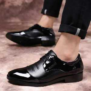 Hình thu nhỏ sản phẩm Big Size 38~48 Office Gentlemen Men Formal Shoes Pointed Toe Business Oxford For Men Dress Shoes - intl