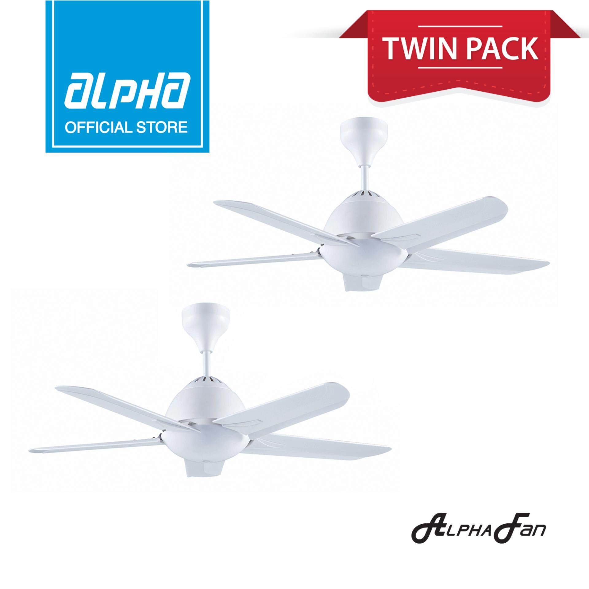 Twin Pack Alpha Af20 5b 42 Ceiling Fan With 5 Blades Sd Remote White Malaysia