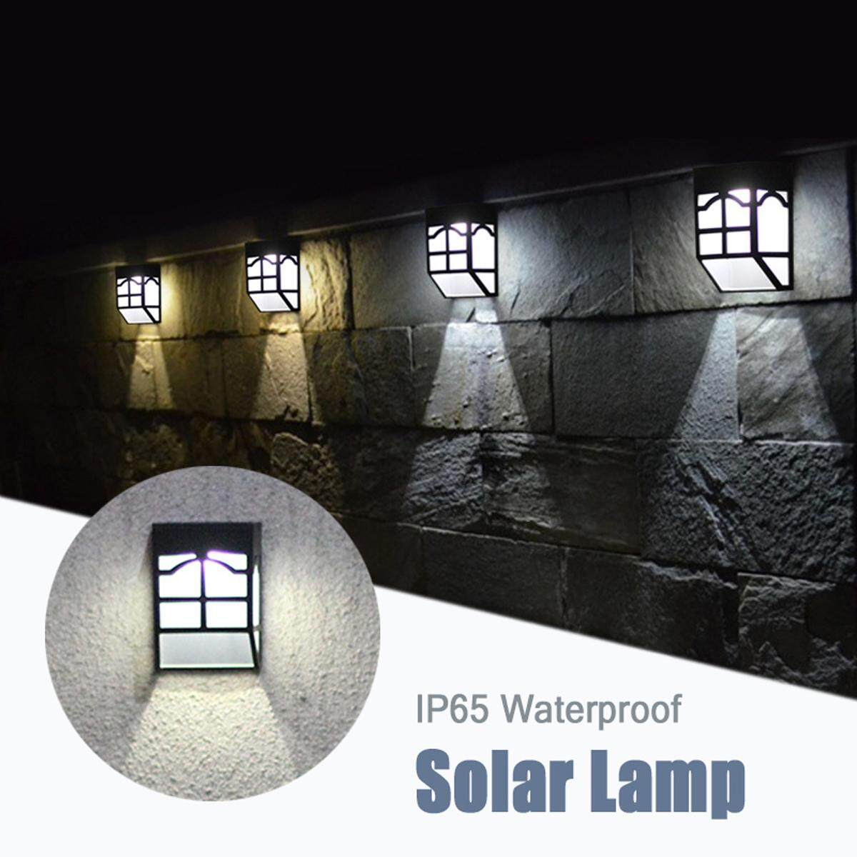 Hình thu nhỏ IP65 Waterproof Solar Charging Lamp LED Outdoors Fence Garden Stairs Wall Light - intl