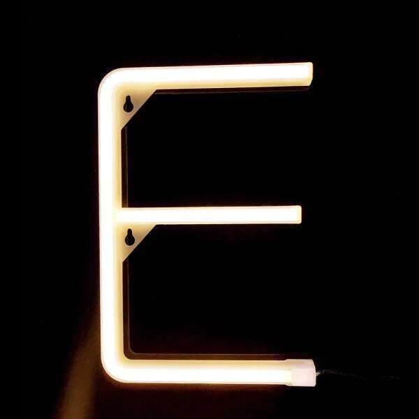 LED Letter Lamp Battery Operated Powered E Shape Warm White for Home Party Decoration Cafe Shop Restaurant Wedding Function Lamp shape E