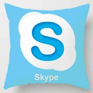 Custom You Tube Cushion Cover Logo Wechat Snapchat Skype Viber Phone Instagram Decor Facebook Pillow Case For Office Accessories