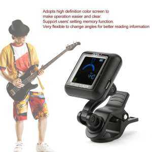 Hình thu nhỏ AROMA AT-102 Electronic Tuner Rotatable Clip-on Guitar Tuner with Color Screen black