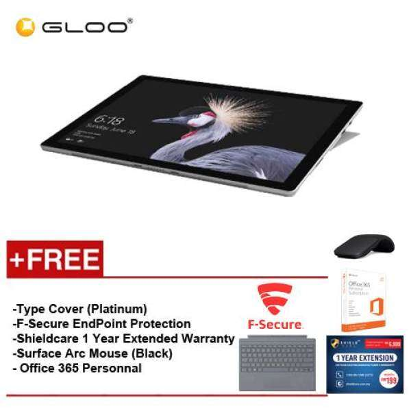NEW Microsoft Surface Pro - Core I5 8G/128GB Free Surface Pro Type Cover (Platinum) + Microsoft Office 365 Personal + Shieldcare 1 Year Extended Warranty + F-Secure End Point Protection + Black Arc Mouse Malaysia