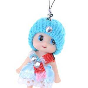Hình thu nhỏ sản phẩm 8cm Confused Ddung Girl Dolls Phone Charms as Dollhouse Toys Cake Decor