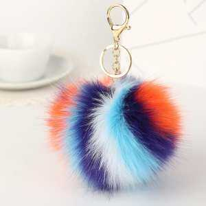 Bluelans Multi Color Faux Fur Fluffy Ball Key Chain Car Keyring Bag Hanging  Pendant Gift (5 ) - intl 1f1b238b7ac86
