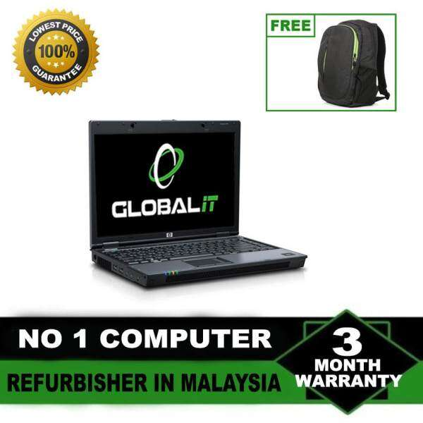(Refurbished Notebook) HP Compaq 6710 14 LCD Laptop / Intel Core 2 Duo / 80GB Hard Disk / 2GB DDR2 Ram / Windows XP / Factory Refurbished Malaysia