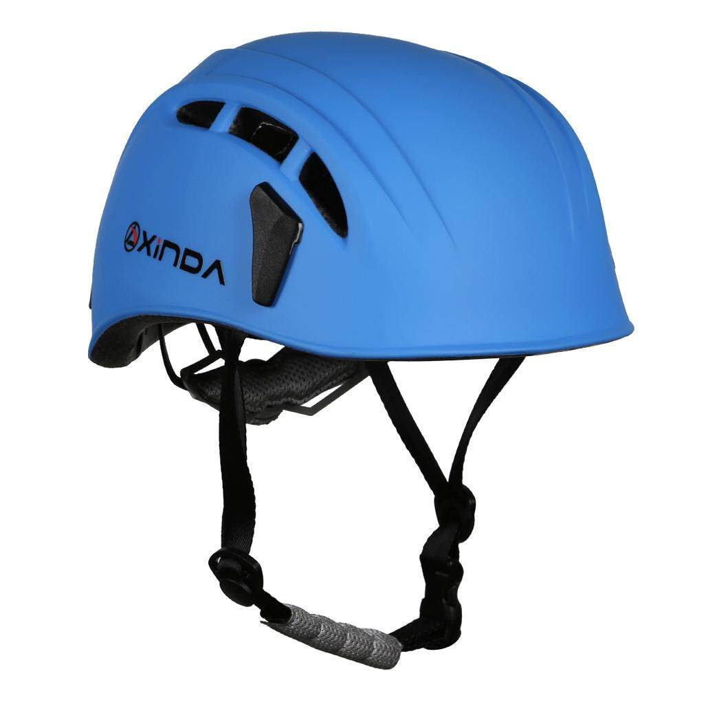 MagiDeal Safety Helmet Rock Climbing Tree Caving Kayaking Rappel Rescue Hard Hat Engineering Plastics ABS Blue